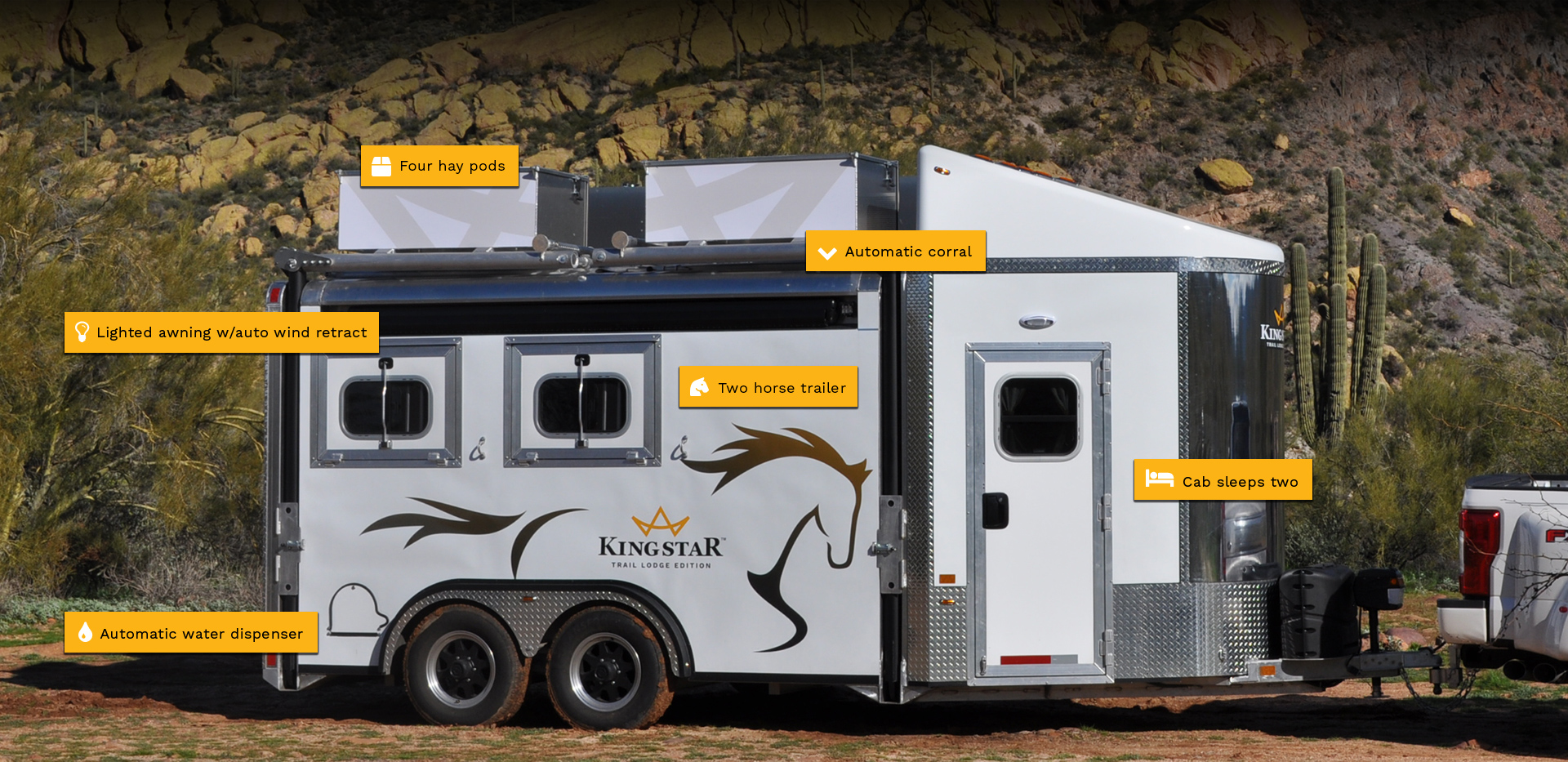 Features of the KingStar horse trailer