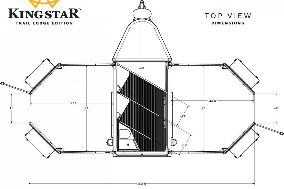 KingStar horse trailer top view dimensions