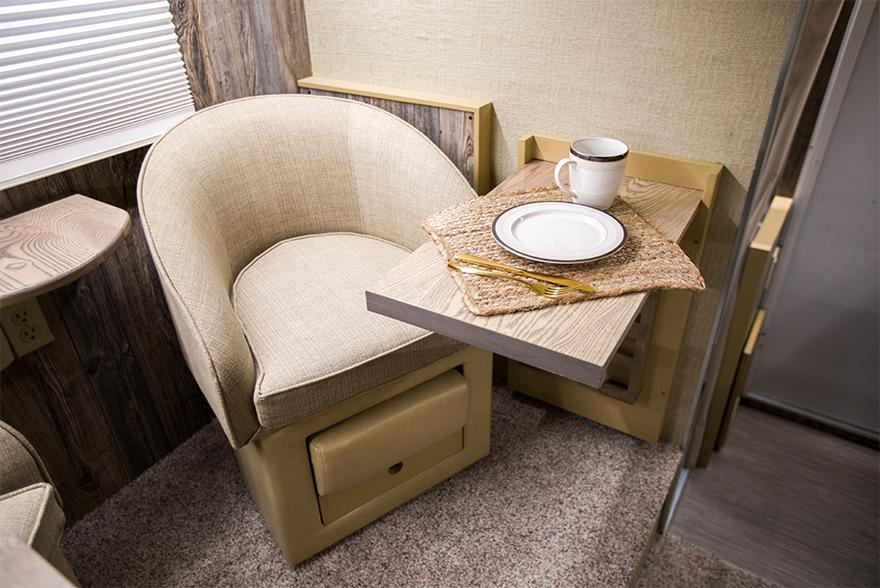 Camper chair and desk
