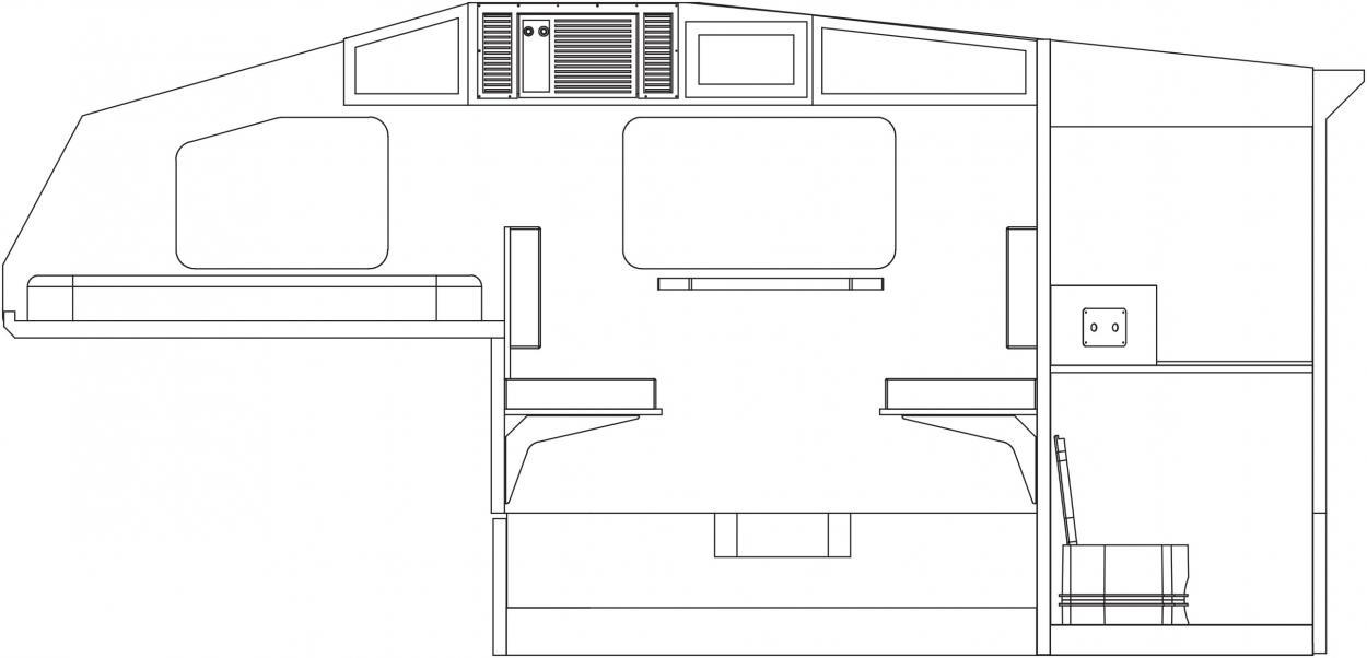 Side View - Camper Dinette
